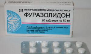 Как принимать таблетки Фуразолидон при поносе?
