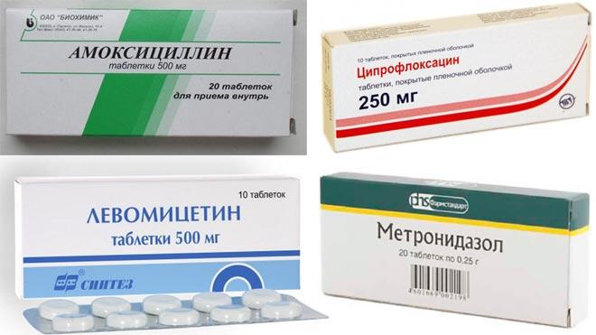 антибиотиков при диарее
